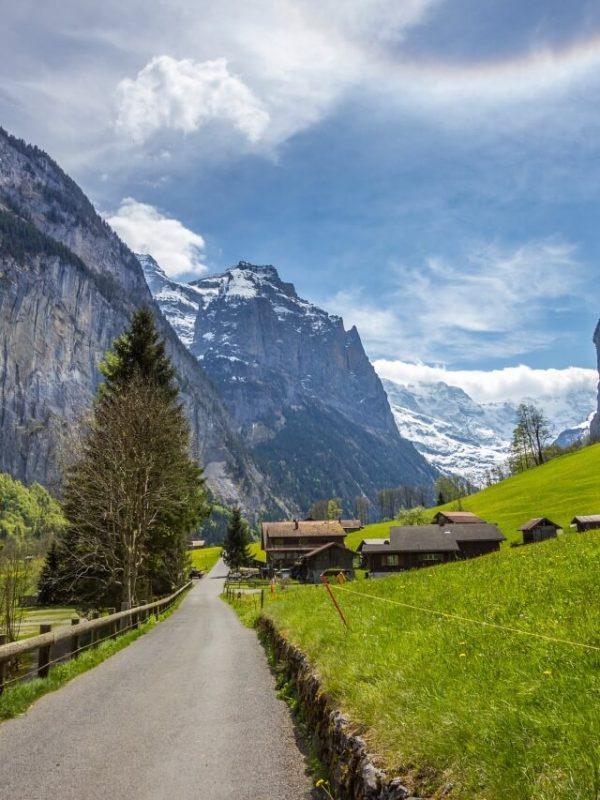 Camino en Lauterbrunnen