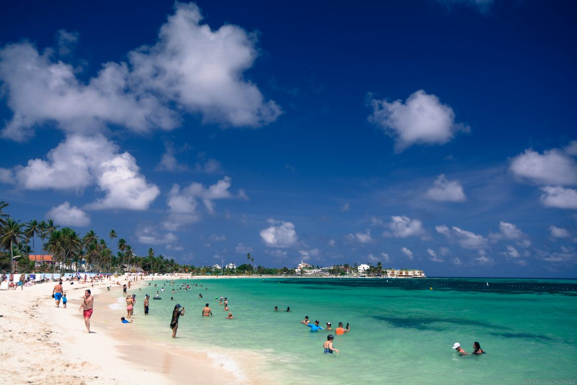 Playa Spratt Bight en San Andrés