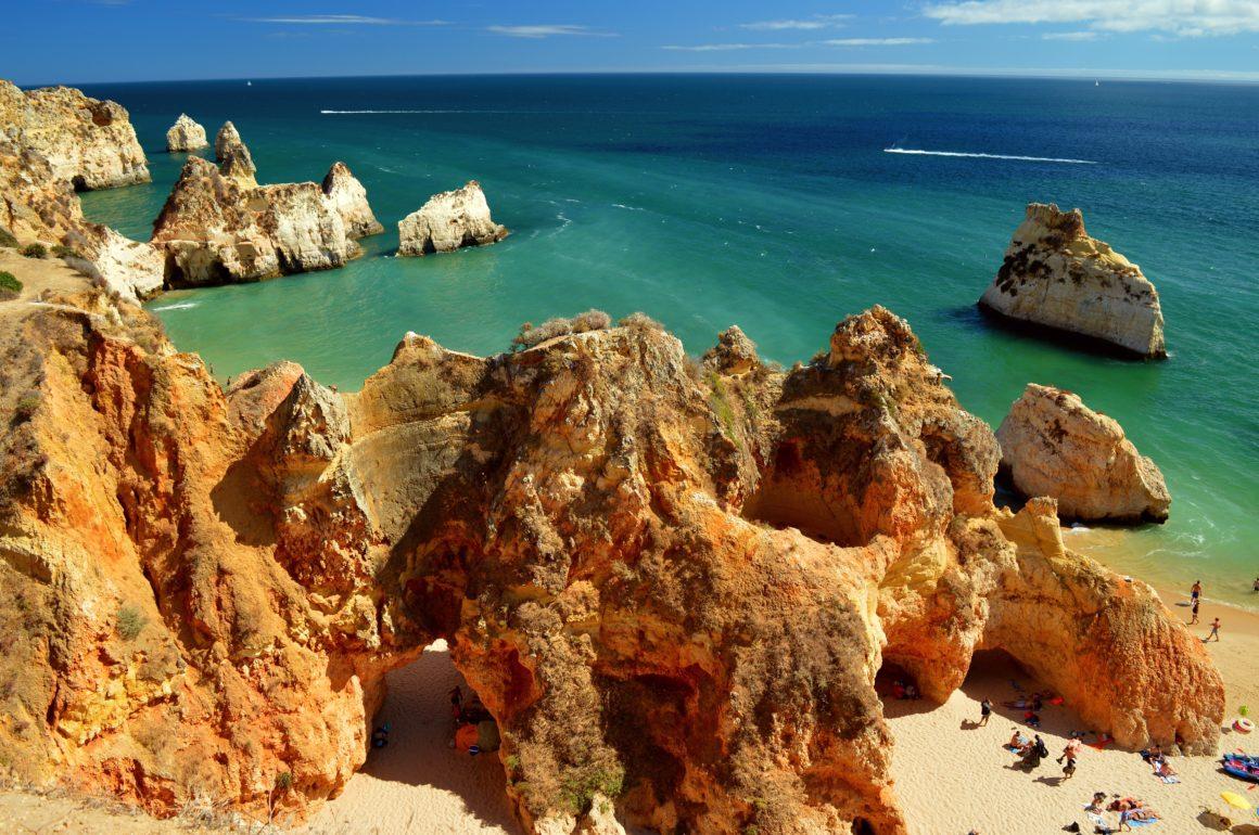 Praia dos tres Irmaos, playas de Algarve