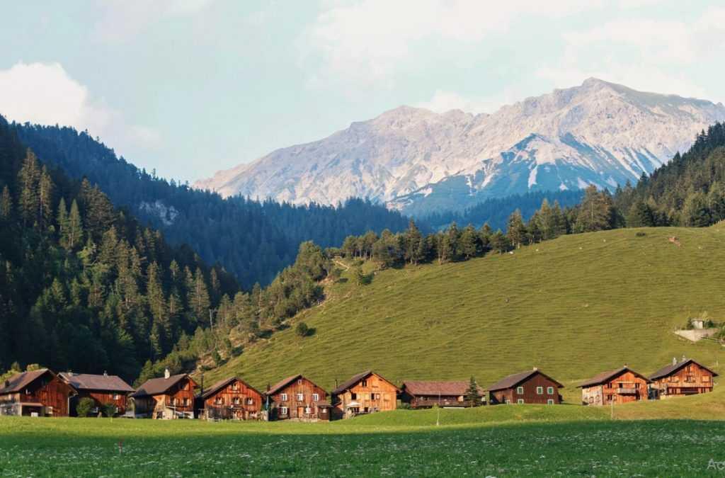 aldea albinen pueblo en suiza