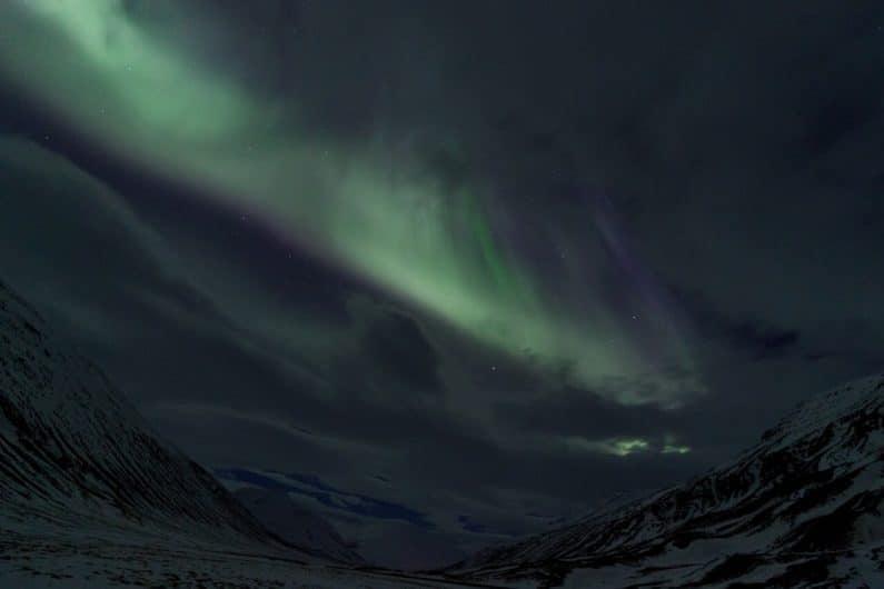 Auroras boreales en Akureyri