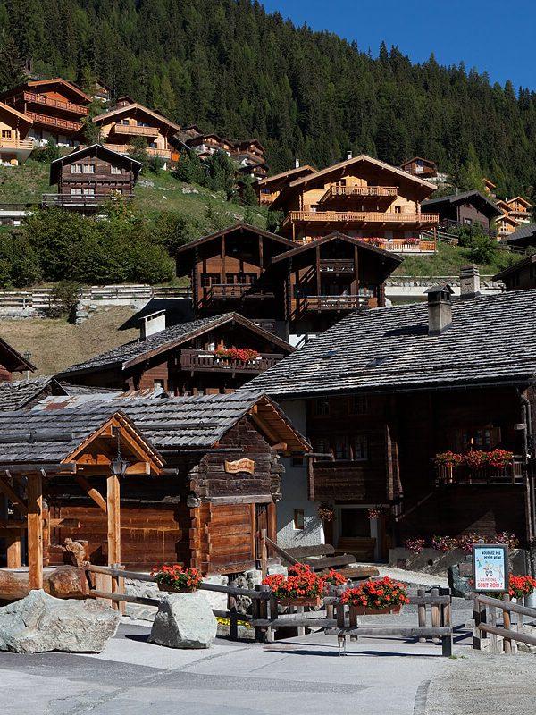 Grimentz pueblo suizo