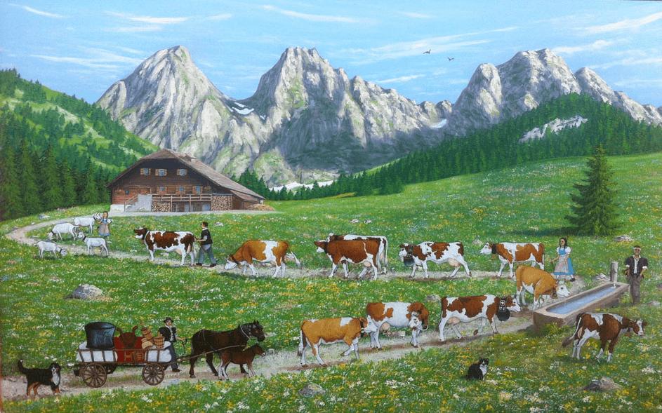 Pintura poya suiza