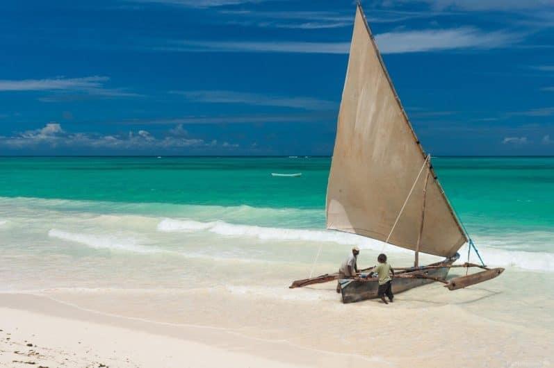 Playa Bwejuu en Zanzibar