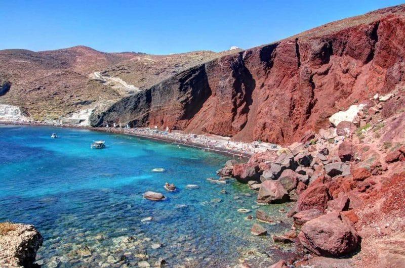 Playa roja que ver en Santorini, Akrotiri