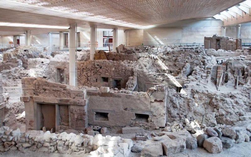 ciudad prehistórica de Akrotiri