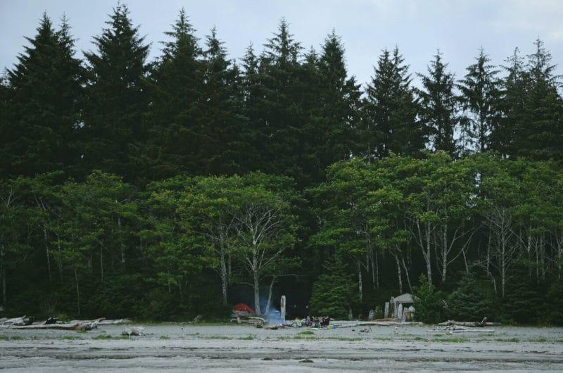 Campamento en Pachena Beach Bamfield