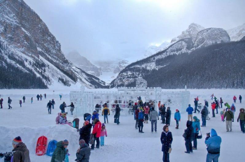 Festival de hielo en Lake Louise