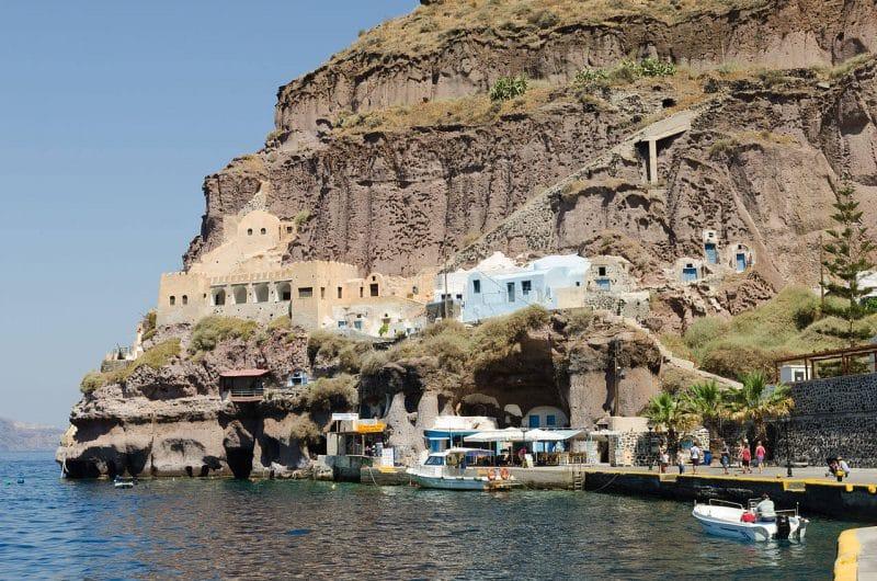 Gialos viejo puerto de Fira