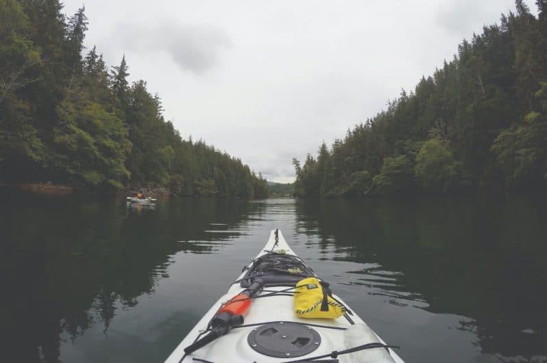 Kayak en Bamfield Canadá
