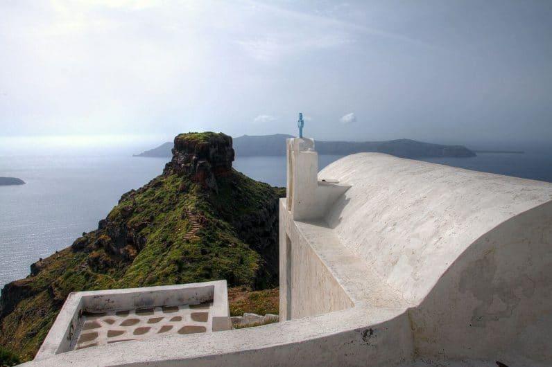 iglesia de Agios Loannis - Skaros Rock