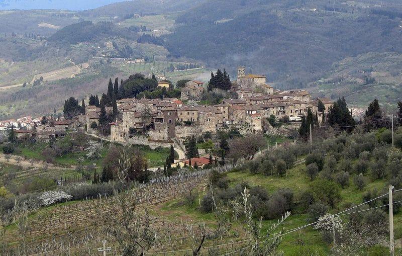 Montefioralle pueblos de Italia