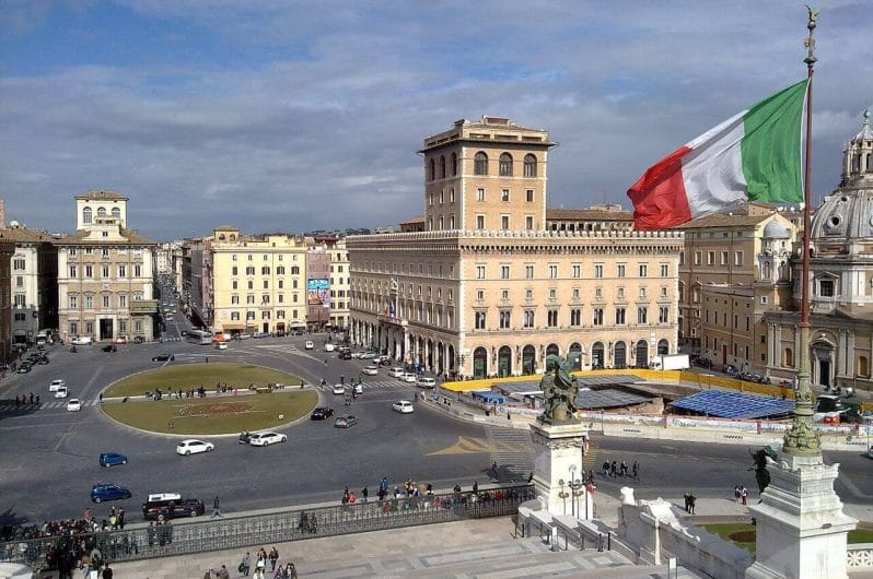 Plaza Venecia en Roma